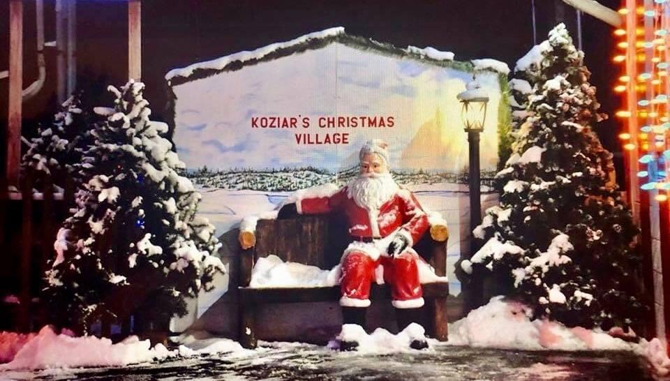 Santa In Snow - Koziars Christmas Village